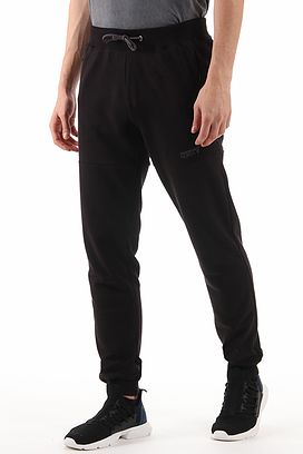 Men Black Slim Fit Zip Pockets Trouser/Pant