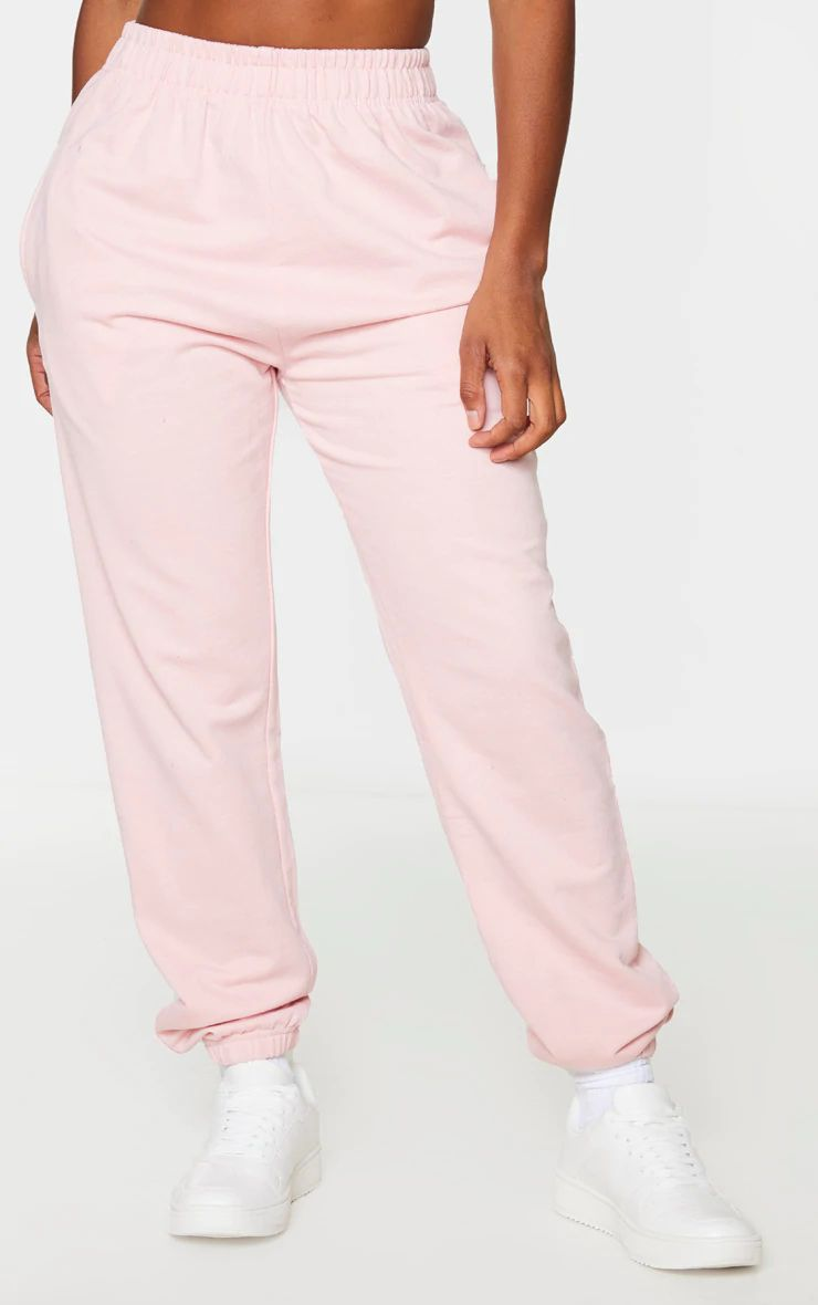 BABY PINK SHAPE LIGHT WEIGHT JOGGERS
