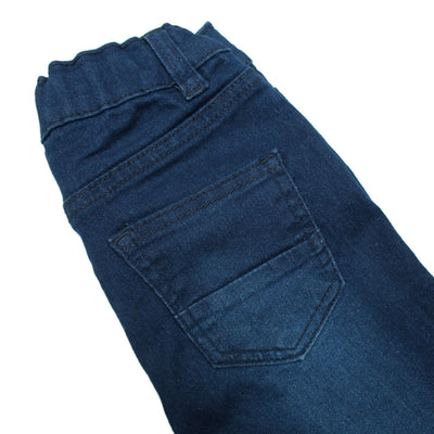 Boys Dark Blue High Stretch Cotton Regular Fit Denim Pent/ Trouser - Big Brands | Small Prices | Exportbrands.pk