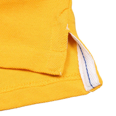 Boys Yellow Regular Fit Shenile Embroidered Polo Shirt 100% Cotton - Big Brands | Small Prices | Exportbrands.pk