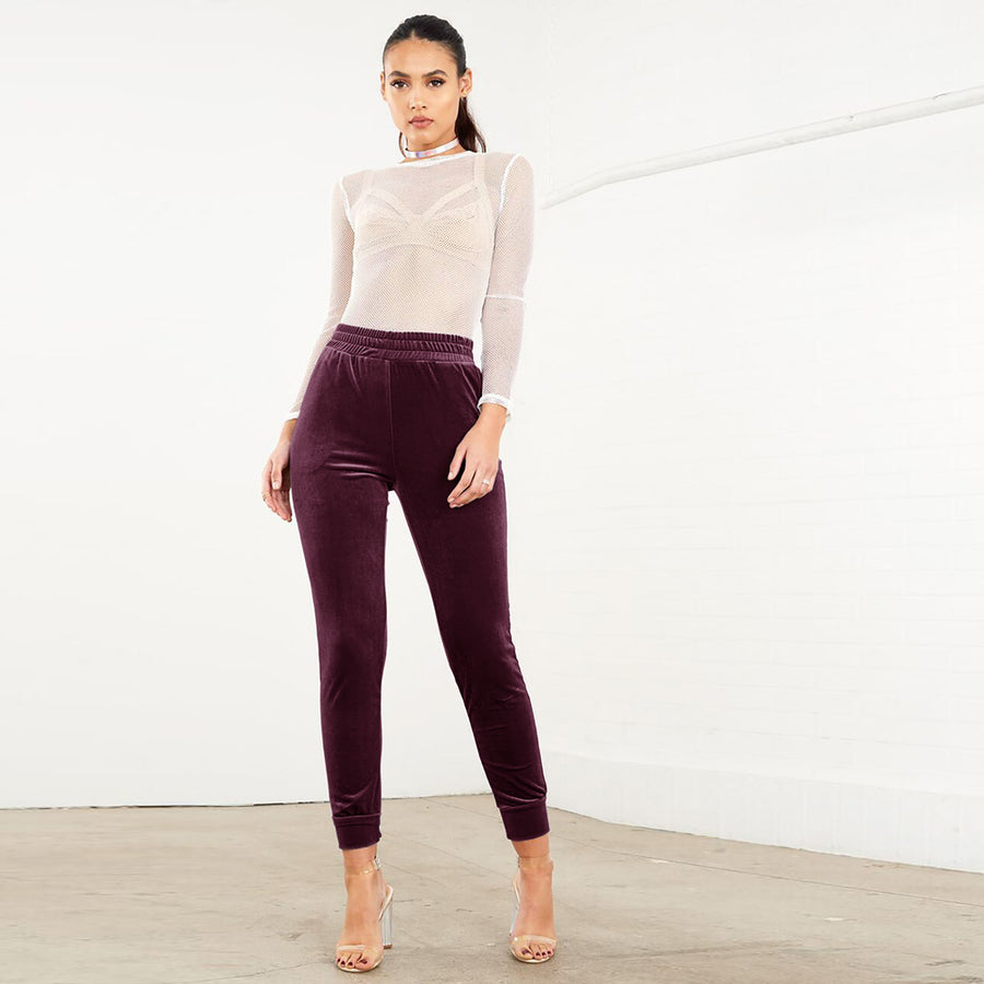 WOMEN VELVET HIGH COMFORT TROUSER