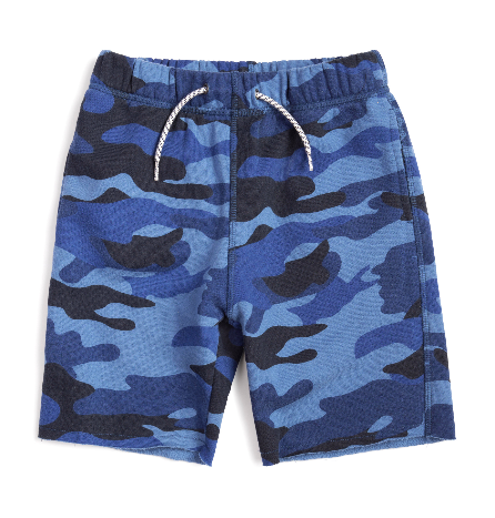 BLUE CAMO BOYS SWEAT SHORTS