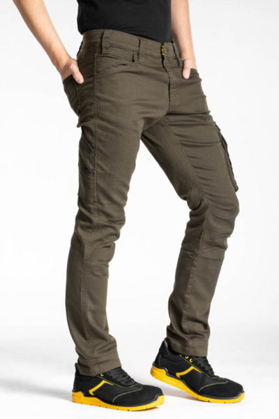 NON SLIP ELASTIC HIGH STRETCH REGULAR FIT CARGO TROUSER