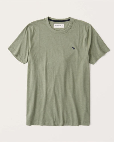 MULTI COLOR ICON HEATHER OLIVE GREEN CREW TEE