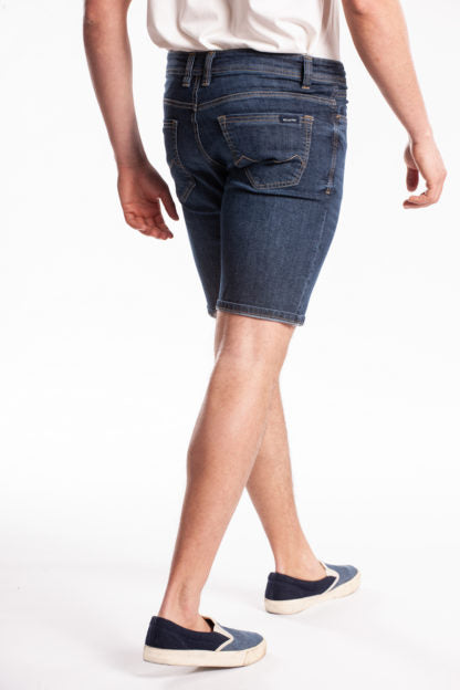 DR. BLUE WASH SUPER STRECH BERMUDA SHORT