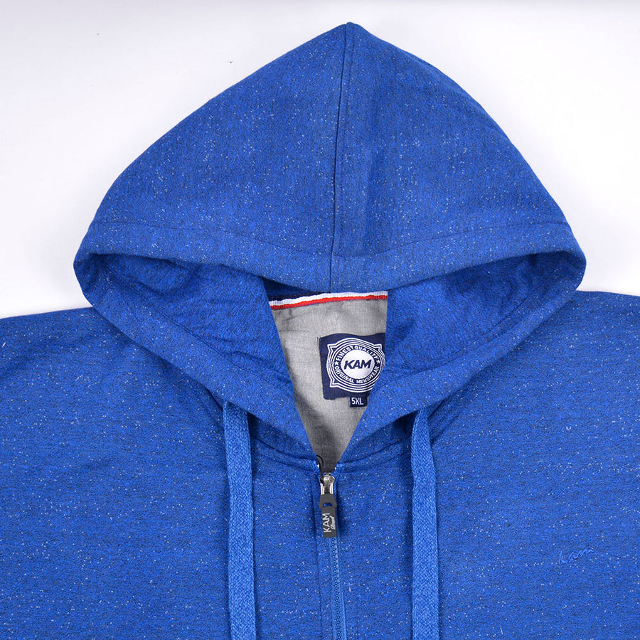 KAM JEANS BIG MAN EXTRA SIZE ROYAL BLUE HOODIE