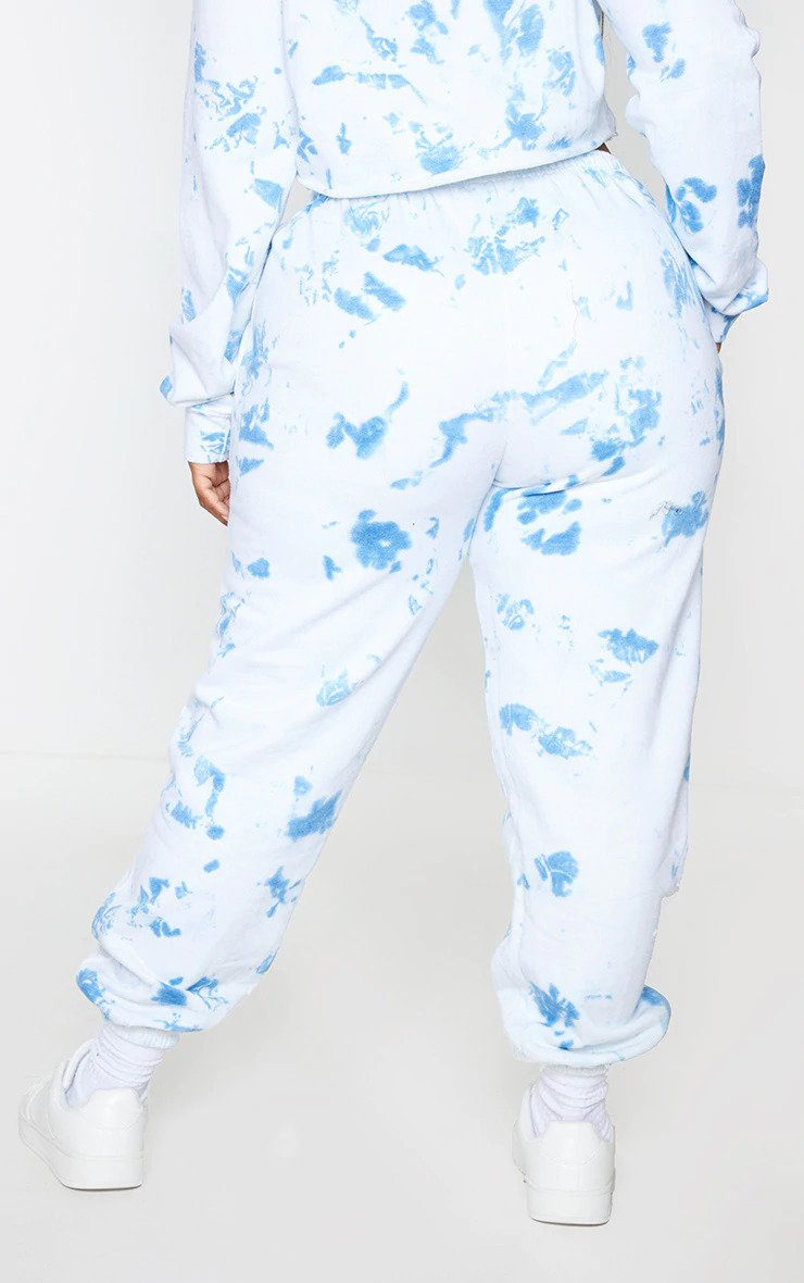 Plus Blue Tied Dye Jogger