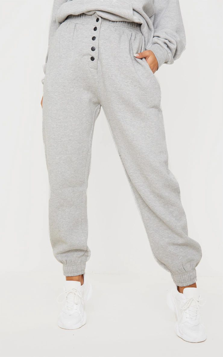 GREY POPPER FRONT JOGGERS