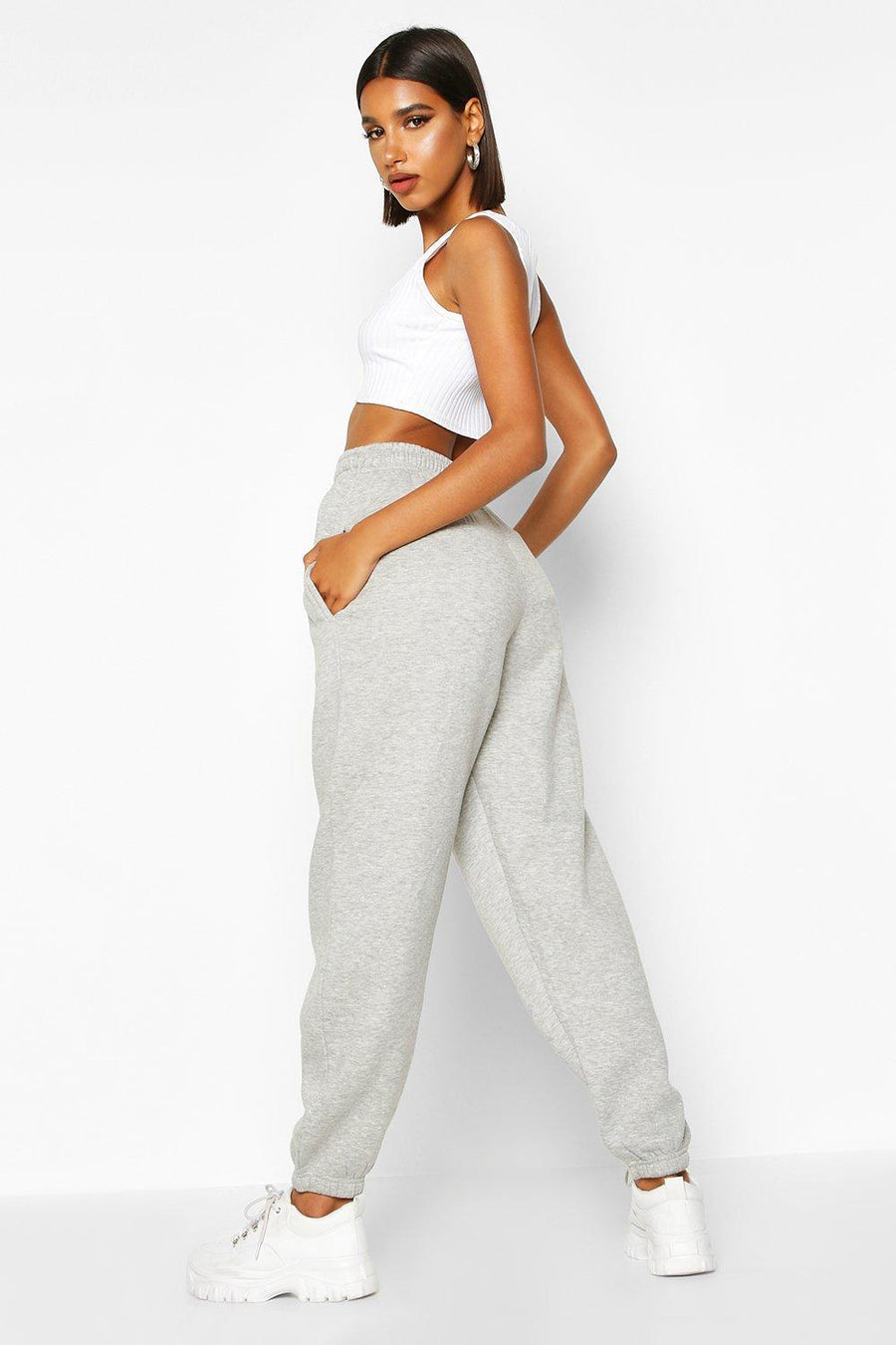 Basic Grey Loose Fit Joggers