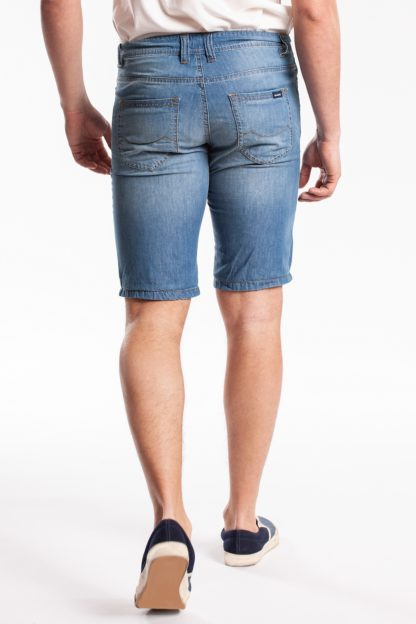 LT.BLUE SUPER STRECH WASHED BERMUDA SHORT