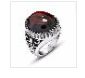 Vintage Agate Ring Titanium Steel Ring Jewelry Fashion Accessory