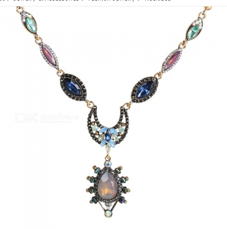 National Pendant Necklaces Crystal Beaded Stellar Design Chain Fashion Jewelry