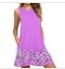 Summer Sleeveless Vintage Print A-Line Loose Mini Dresses For Women