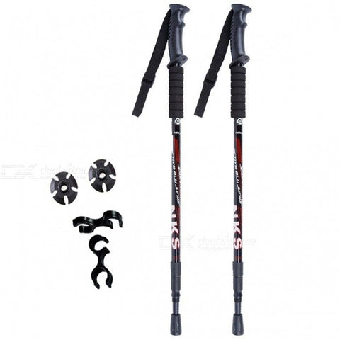 Anti Shock Nordic Walking Sticks Telescopic Hiking Poles 2PCS