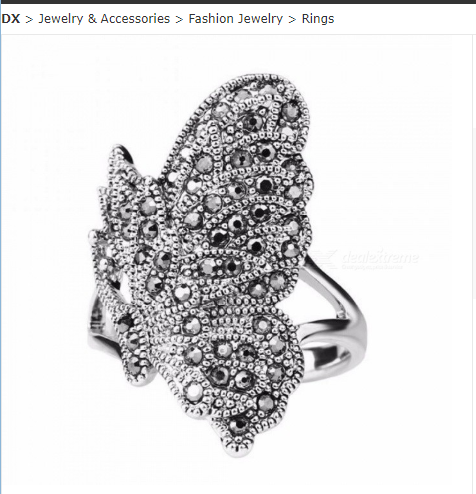 Unique Black CZ Zircon Butterfly Ring For Women Bohemia Color Silver Vintage Animal Jewelry Can Be Paired
