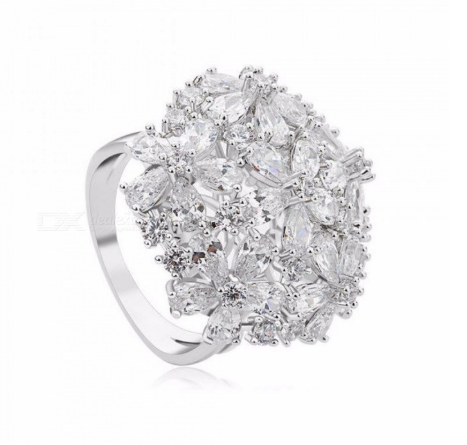 Clear Cubic ZIrconia Elegant Bowknot Wedding Rings for Womenbelly rings Bridal Engagement Free Shipping white gold