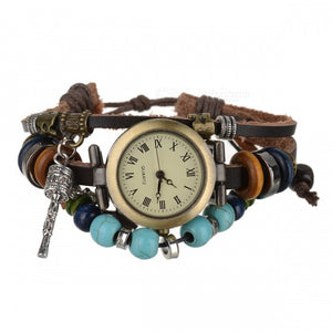 Retro Leather Band Women's Analog Quartz Wrist Watch