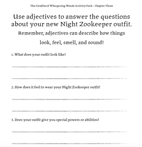 Book 1 - Chapter Three - Activity Pack