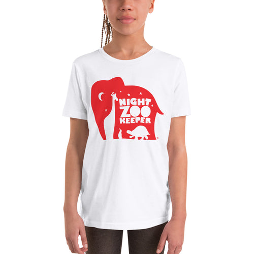 NZK Red on White T-Shirt