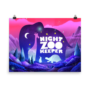 Night Zookeeper Logo Poster