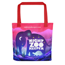 Load image into Gallery viewer, Night Zookeeper Tote bag