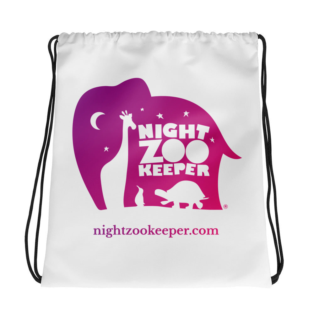 Night Zookeeper Drawstring bag