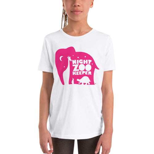 NZK Pink on White T-Shirt