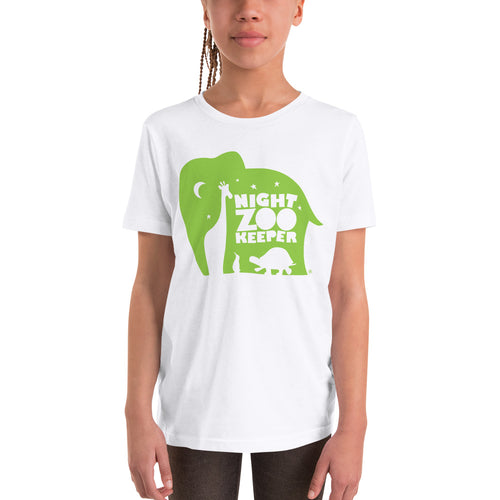 NZK Green on White T-Shirt