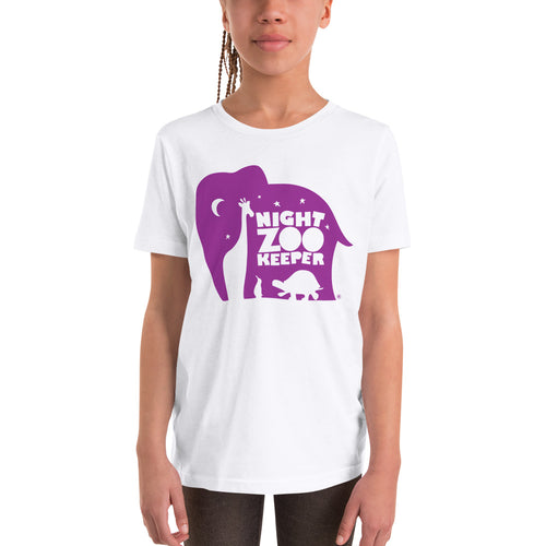 NZK Purple on White T-Shirt