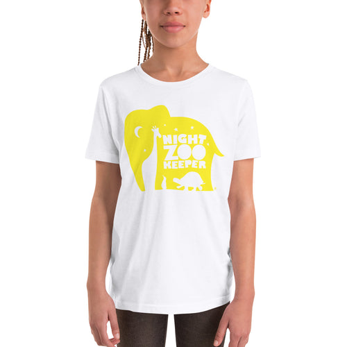 NZK Yellow on White T-Shirt