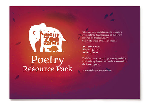 The Night Zookeeper Poetry Resource Pack