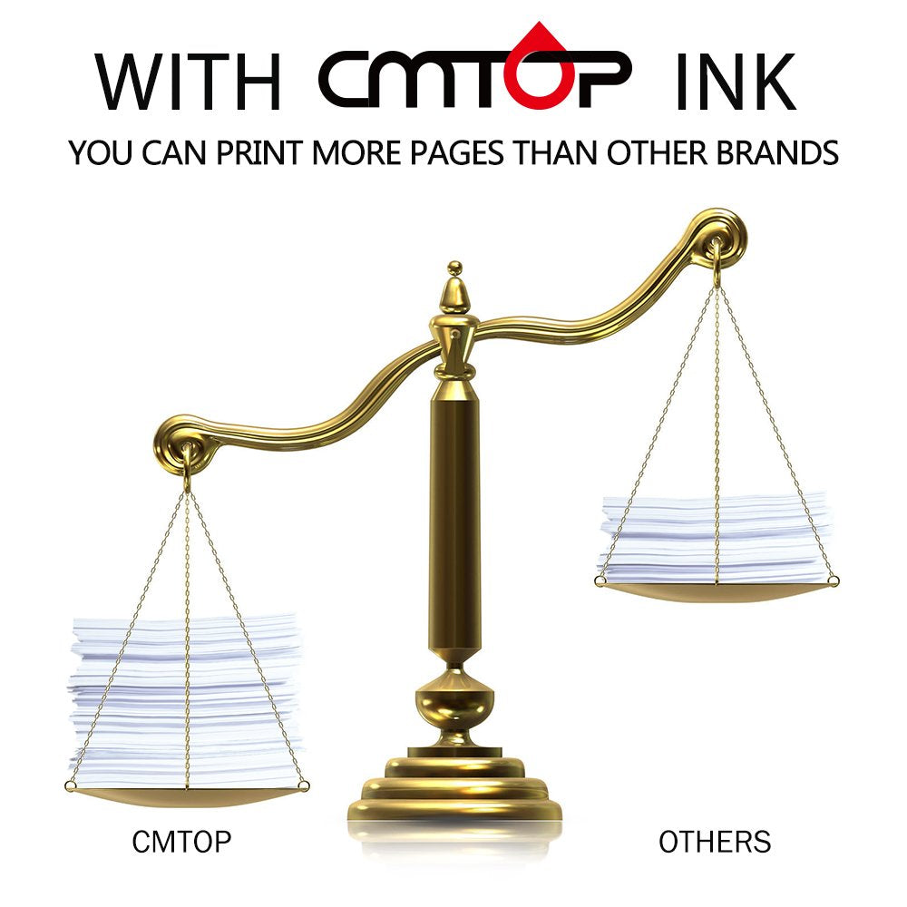 CMTOP 2 Black 61XL Remanufactured Ink Cartridges for HP 61 XL 61XL Ink,  High Yield, Work with HP Deskjet 1000 1512 1010 2540 3510 3050A 2510 3000  HP