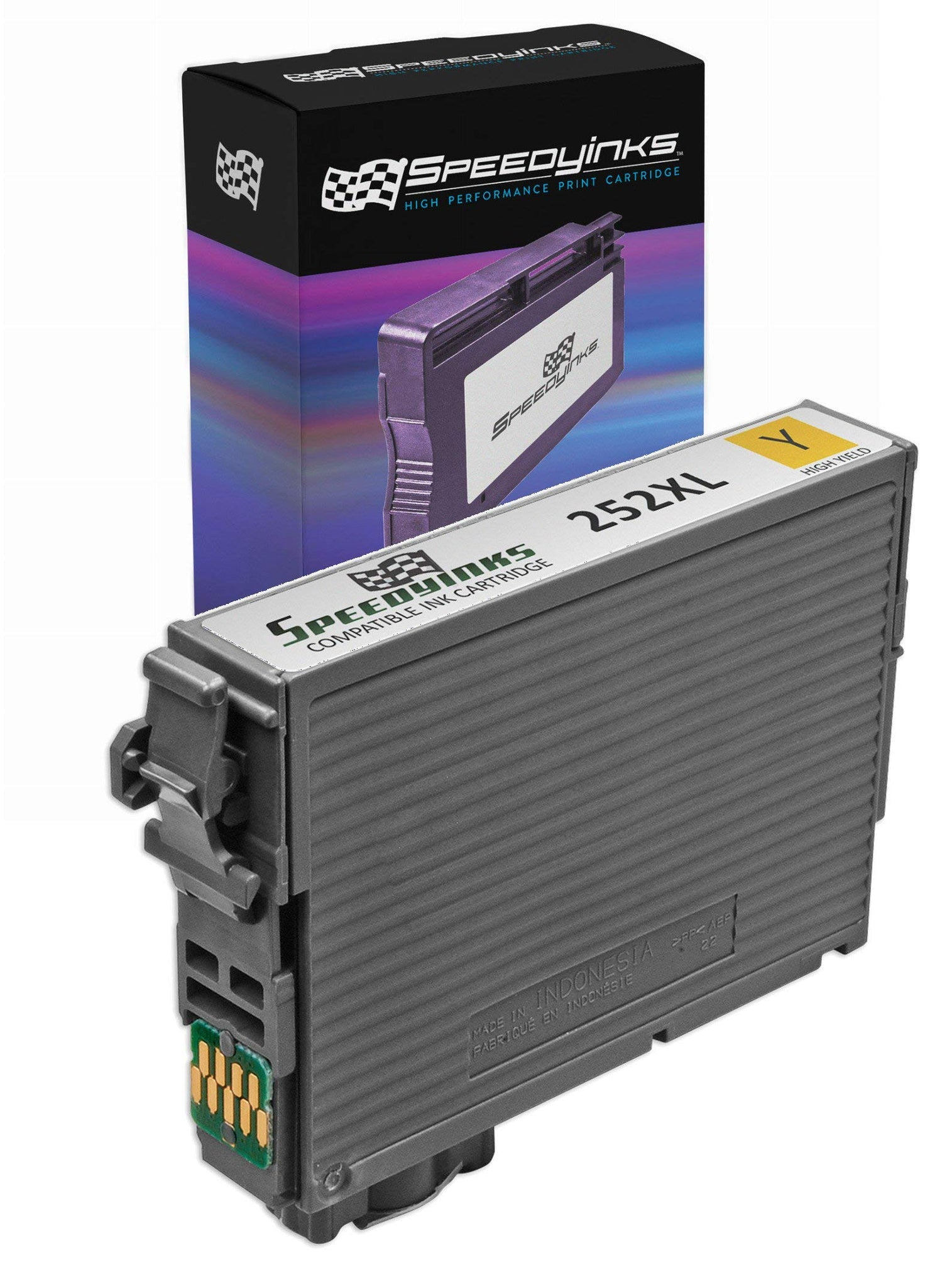 Speedy Inks Remanufactured Ink Cartridge Replacement for Epson T252XL420 Yellow