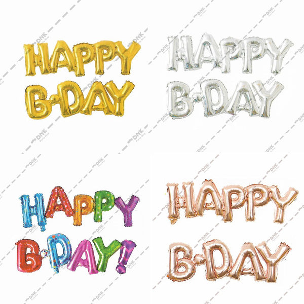 "Happy B-Day Script Foil Balloon - 30""in each (Choose your color)"