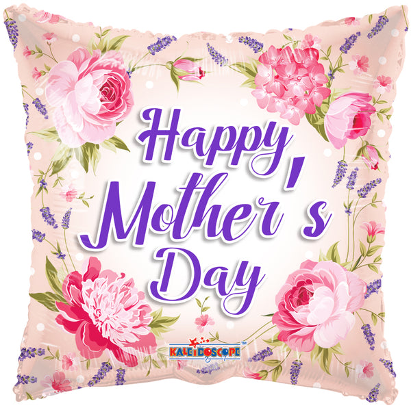 Happy Mother's Day Classic Flowers Foil Balloon 18""
