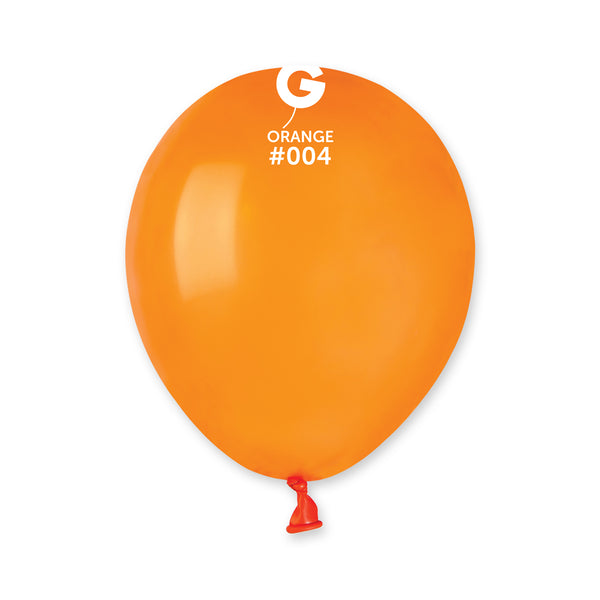 Solid Balloon Orange  A50-004  | 100 balloons per package of 5'' each