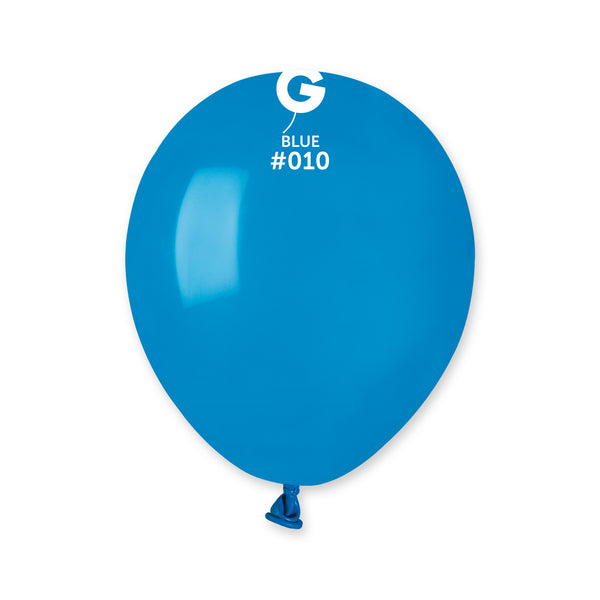 Solid Balloon Blue A50-010  | 100 balloons per package of 5'' each