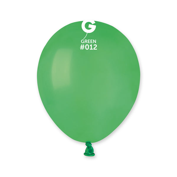 Solid Balloon Green A50-012  | 100 balloons per package of 5'' each