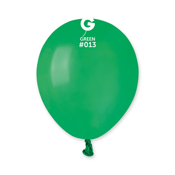 Solid Balloon Green A50-013  | 100 balloons per package of 5'' each
