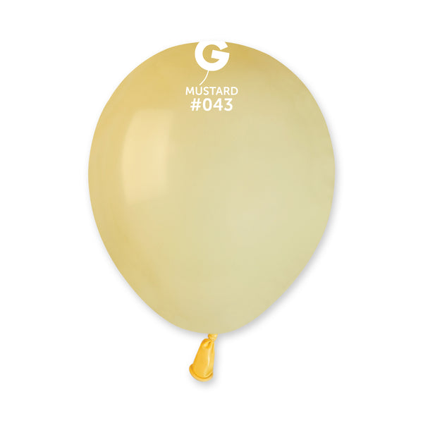 Solid Balloon Baby Yellow A50-043  | 100 balloons per package of 5'' each