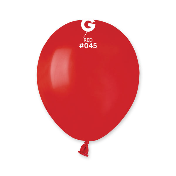 Solid Balloon Red A50-045  | 100 balloons per package of 5'' each