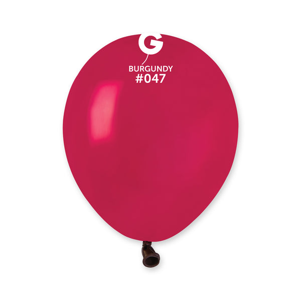 Solid Balloon Burgundy A50-047  | 100 balloons per package of 5'' each