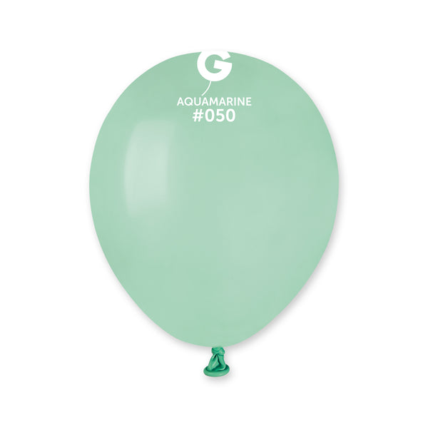Solid Balloon Aquamarine A50-050  | 100 balloons per package of 5'' each