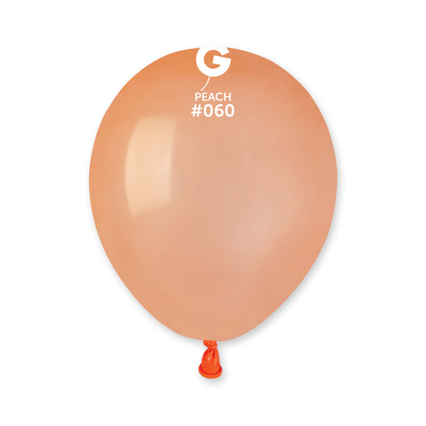 Solid Balloon Peach A50-060  | 100 balloons per package of 5'' each
