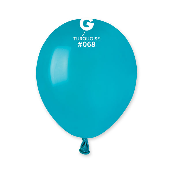 Solid Balloon Turquoise A50-068  | 100 balloons per package of 5'' each