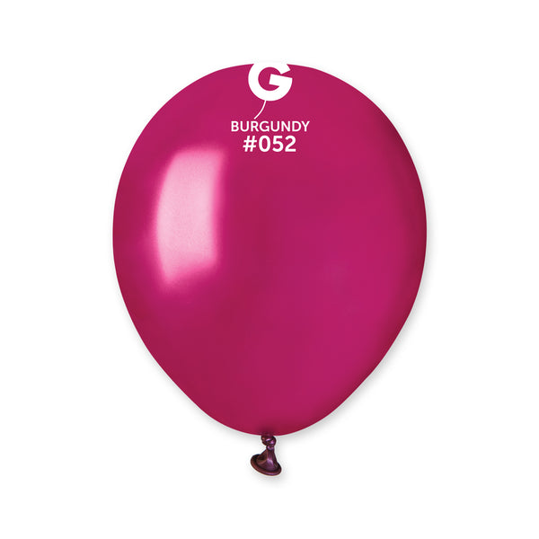 Metallic Balloon Burgundy AM50-052  | 100 balloons per package of 5'' each