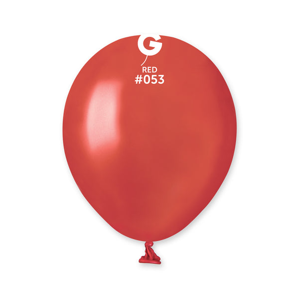 Metallic Balloon Red AM50-053  | 100 balloons per package of 5'' each