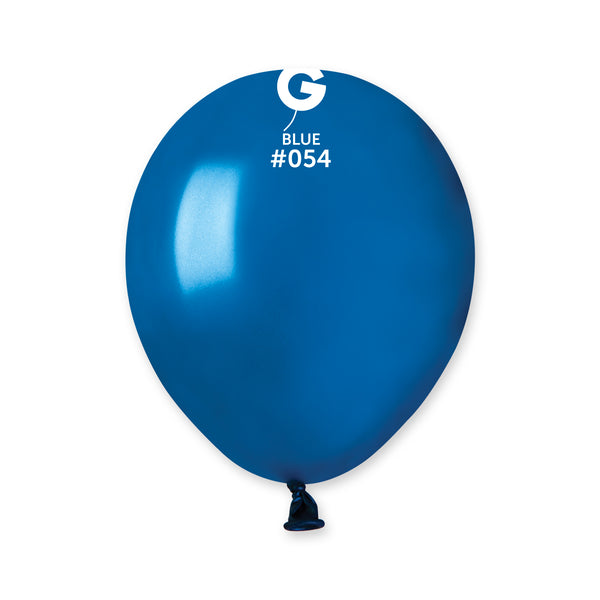 Metallic Balloon Blue AM50-054  | 100 balloons per package of 5'' each