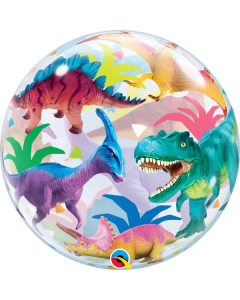 Colorful Dinosaurs Bubble 22""