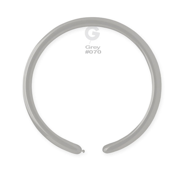 Solid Balloon Grey D4(260)-070 | 50 balloons per package of 2'' each